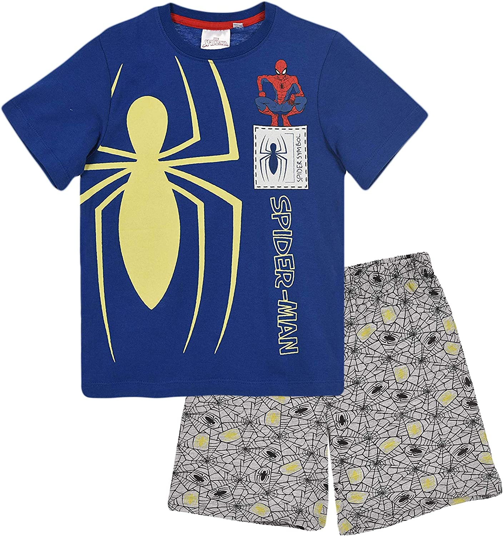 Spiderman Jungen Kurz Pyjama Schlafanzug