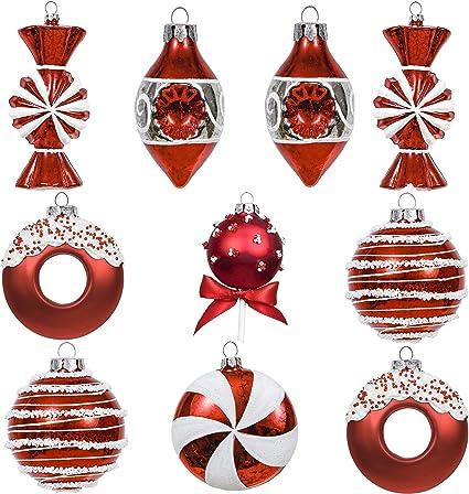 Immagini Palline Natalizie.Set Di 10 Palline Natalizie Home Living Ornaments Accents