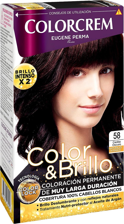 Colorcrem Color & Brillo Tinte Capilar Naturales Intensos Color Caoba Oscuro - 1 Pack de 3 unidades