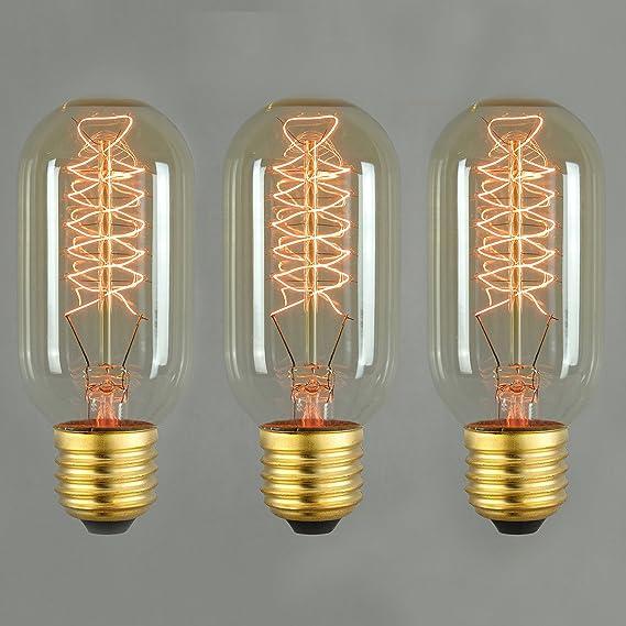 Image of Bombilla Vintage tipo Edison 60W–Válvula en espiral, 45mm, E27 60.00 wattsW 240.0 voltsV