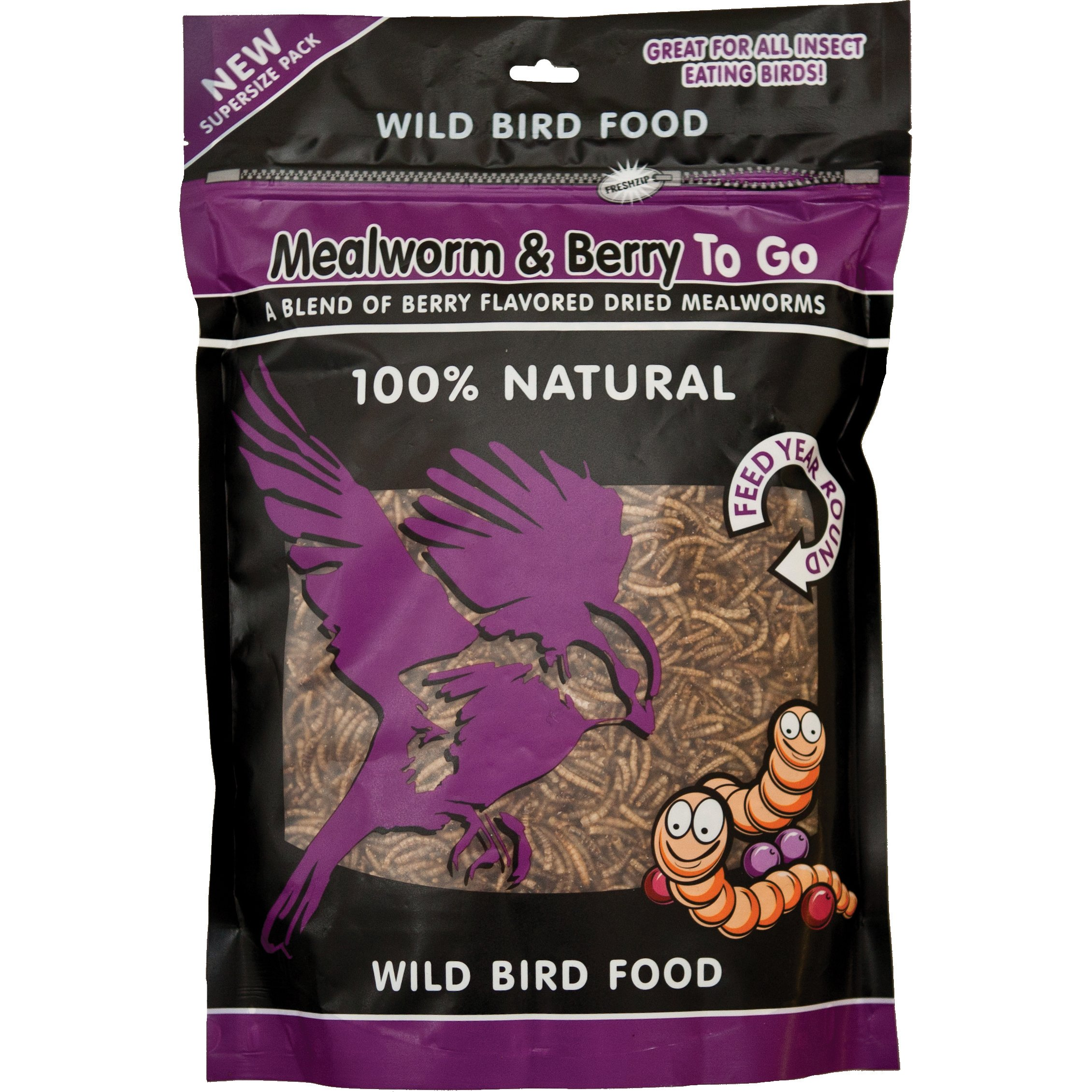 Unipet WB158 Mealworms and Berry To Go, 500 Gram