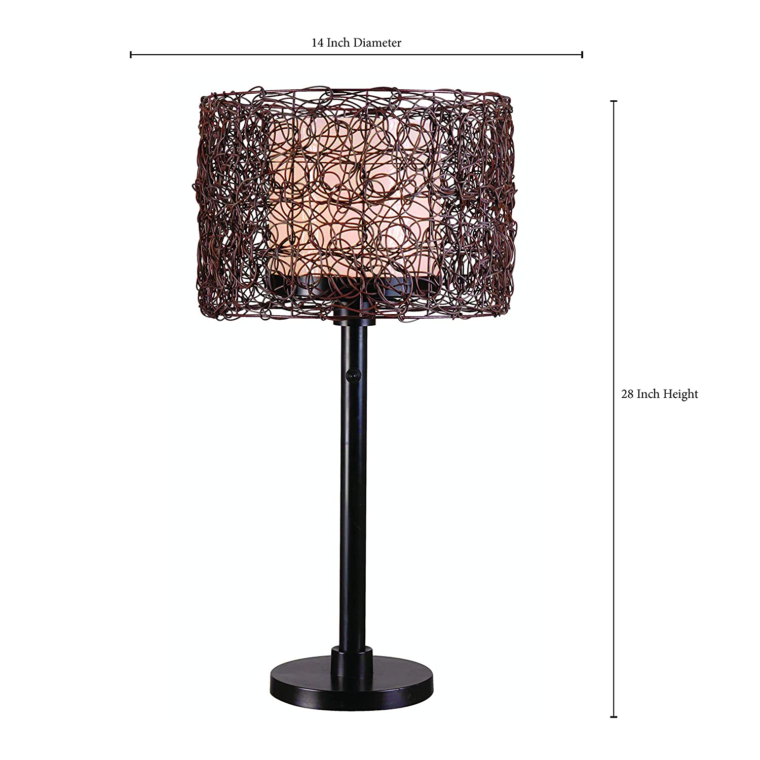 Kenroy Home 32219brz Tanglewood Outdoor Table Lamp Bronze Finish