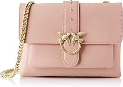 Pinko Big Love Simply 2, Bolsa de mensajero para Mujer, Negro, 5x22x29.2 centimeters (W x H x L)