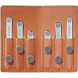 Wurkin Stiffs Power Stays Travel Set - Brown Leather Wallet - TSA Friendly