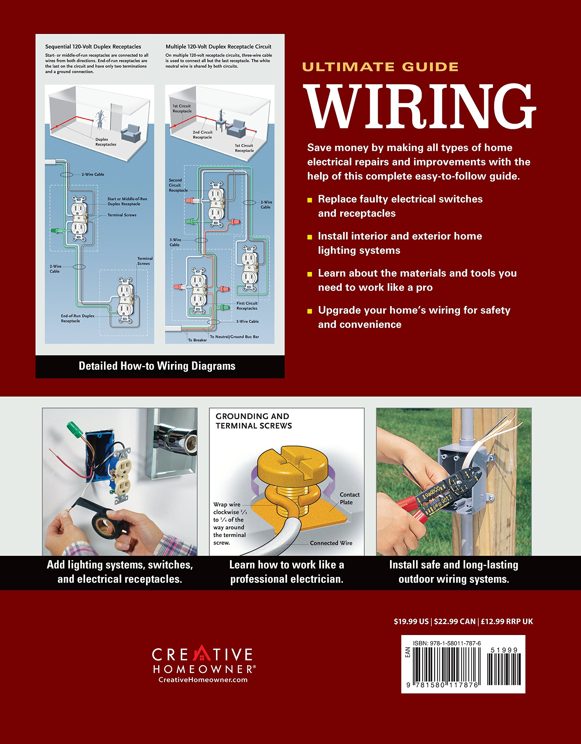 Ultimate Guide Wiring 8th Updated Edition Creative Homeowner Diy 12 Way Marine Non Illuminated Switch Circuit Breaker Panel Amazonco Home Electrical Installations Repairs From New Switches To Indoor Outdoor Lighting
