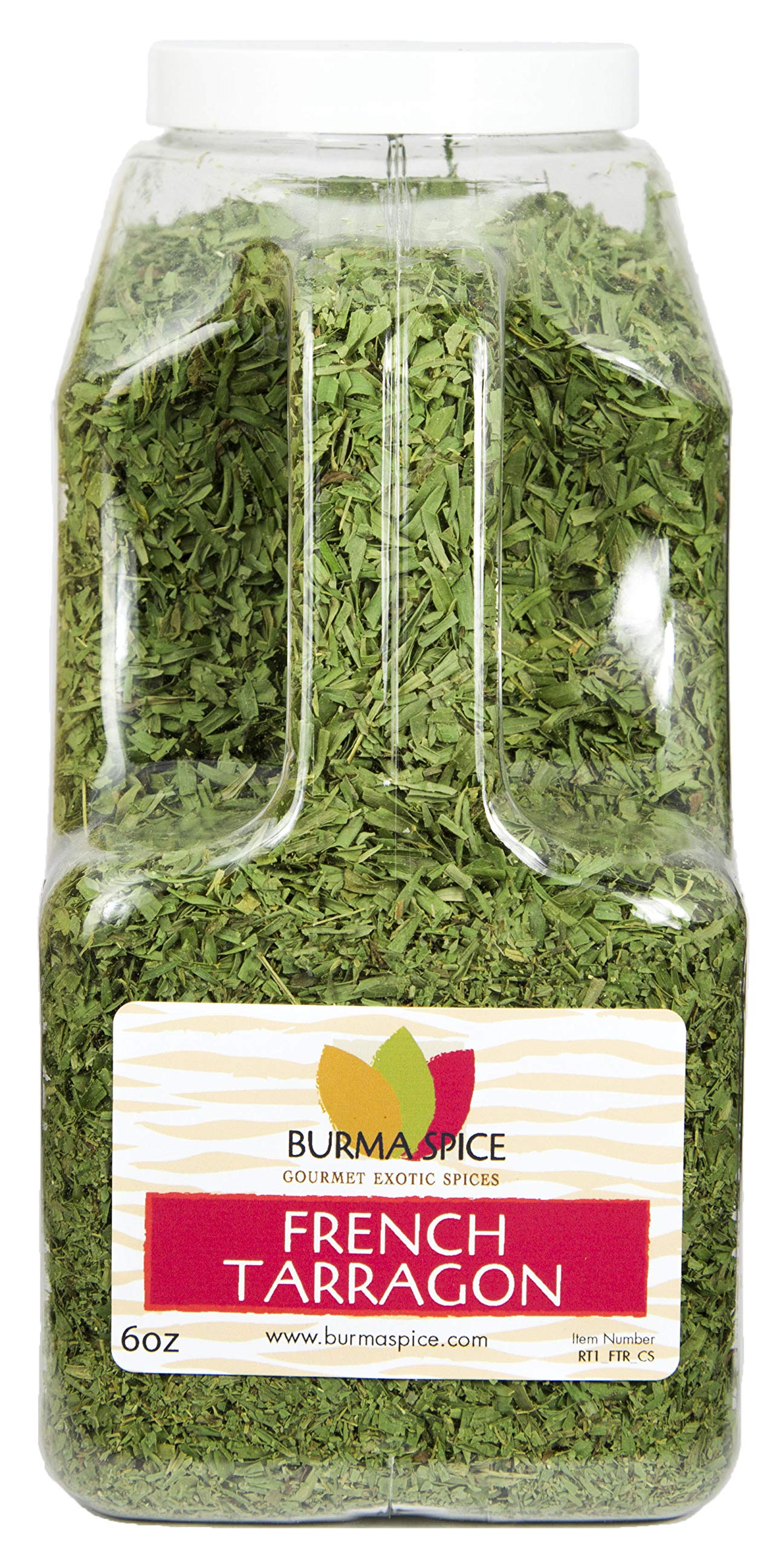 French Tarragon : Dried Herb, No additives, French Cuisine : Kosher Certified (6oz.)