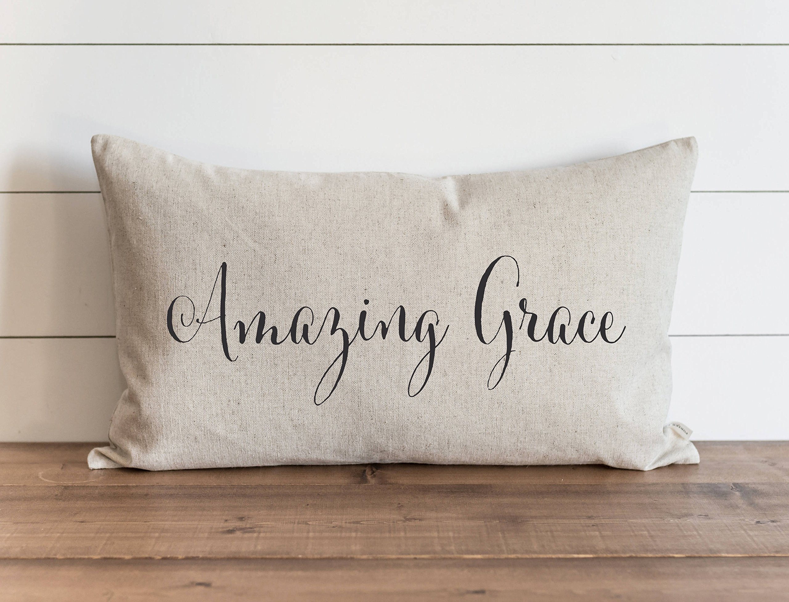 TINA-R Amazing Grace 16 x 24 Inch Pillow Cover Everyday How Sweet The Sound Throw Pillow Gift Accent Pillow Nursery Faith