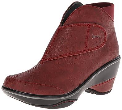 Amazon.com | Jambu Esmeralda Boot - Women's Deep Red 6 | Ankle ...