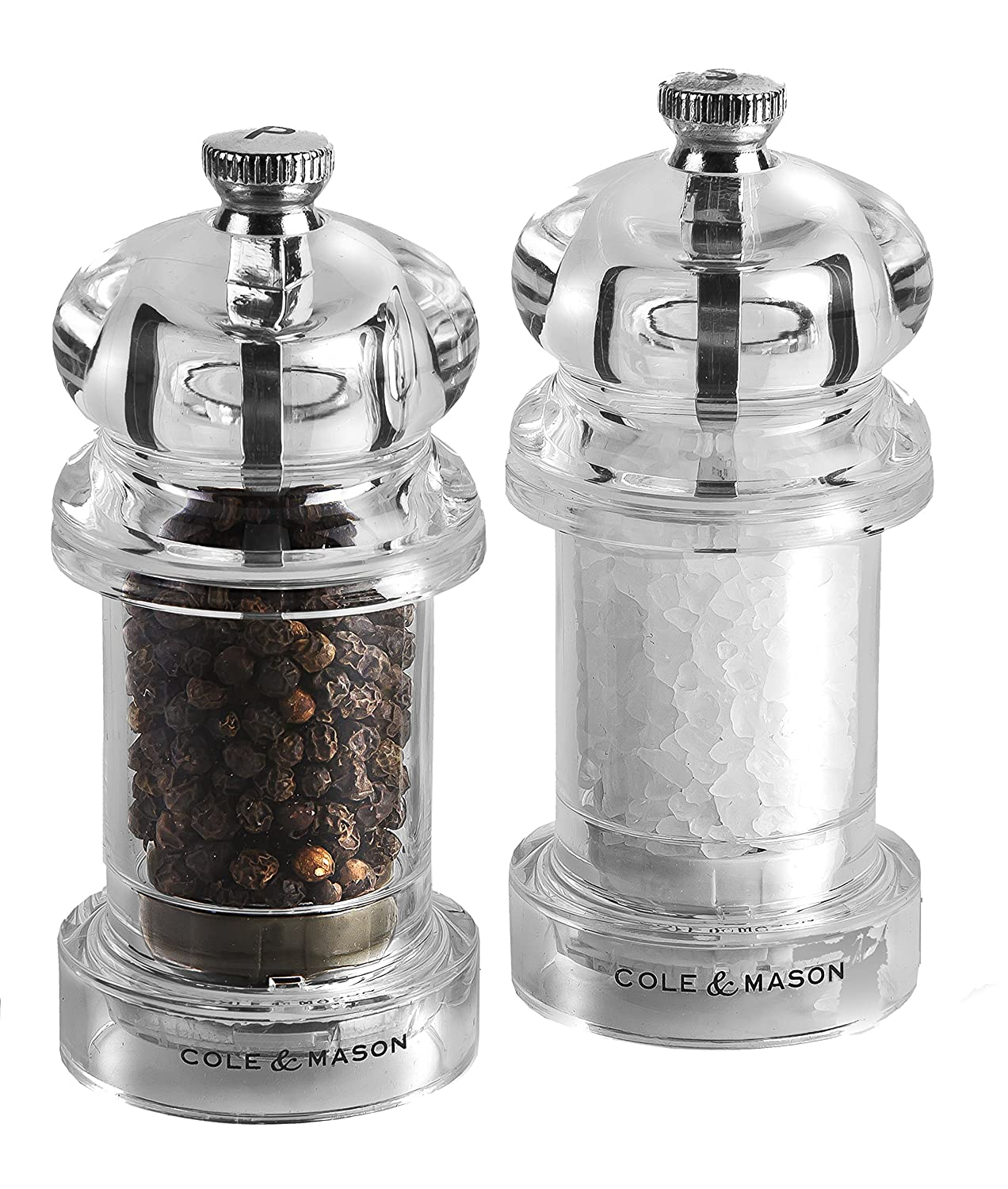 Cole & Mason Precision Grind 575 Salt and Pepper Mill Gift Set, Acrylic, Clear, 10.5 cm Dkb Household Uk Ltd H57508P