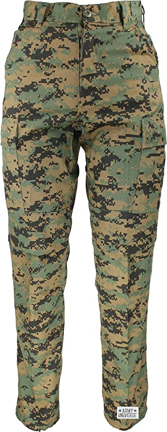Amazon.com  Mens Woodland Digital Camo Poly Cotton Military BDU Army  Fatigues Cargo Pants with Pin  Clothing ea01340e77c