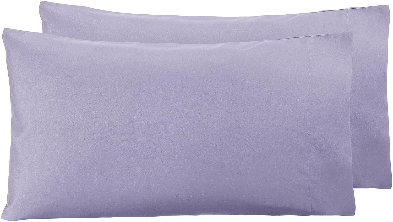 AmazonBasics - Funda de almohada de microfibra, 2 unidades ...