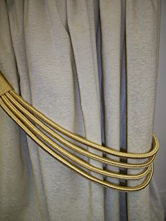 Perfect Soft Gold Cord Band Curtain Tie Back /Tieback