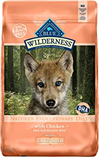BLUE Wilderness High Protein Grain Free Puppy Dry Dog Food & Amazon.com: BLUE Life Protection Formula Puppy Large Breed Chicken ...