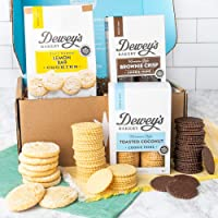 Dewey's Bakery Cookie Gift Basket - Moravian Cookies, Lemon Bar Soft Baked Cookies - 3 Piece Cookie Gift Box   Southern…