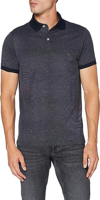 Tommy Hilfiger Two Tone Textured Slim Polo Camisa, Blue, L para Hombre: Amazon.es: Ropa y accesorios