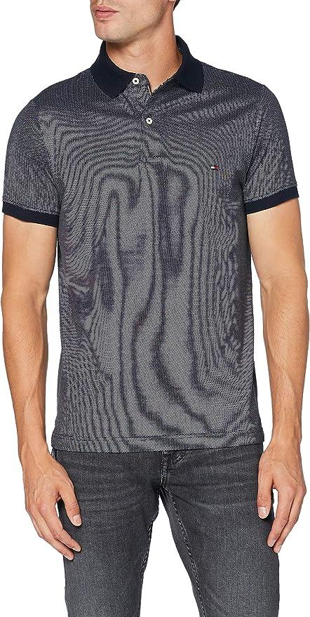 Tommy Hilfiger Two Tone Textured Slim Polo Camisa, Blue, M para Hombre: Amazon.es: Ropa y accesorios