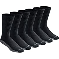 Dickies mens Multi-pack Dri-tech Moisture Control Crew Socks Socks - black - Shoe: 6-12