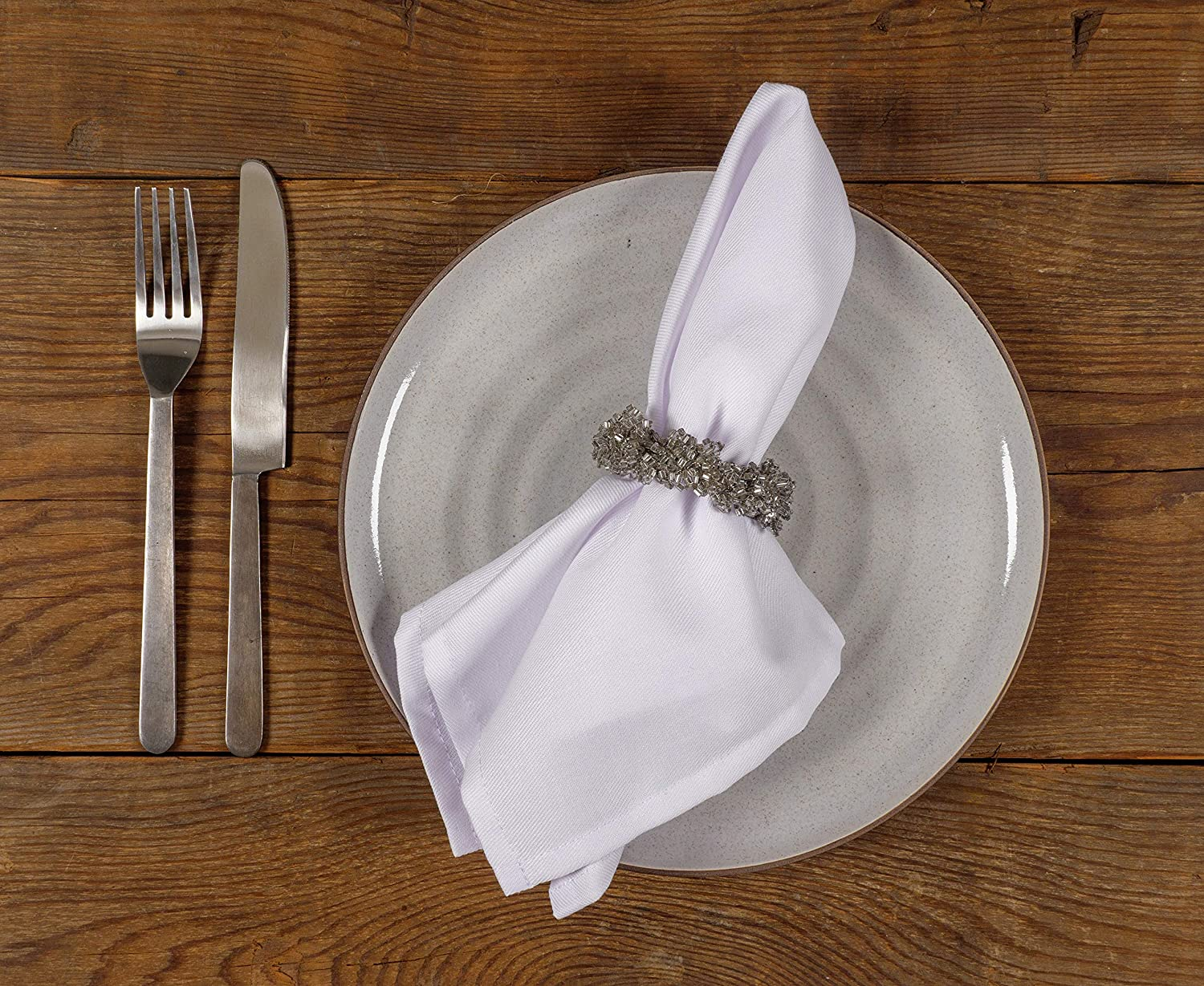 KAF Home Feast Dinner Napkins | Set of 12 Oversized, Easy-Care, Cloth Napkins (18 x 18 Inches) - Gray: Home & Kitchen