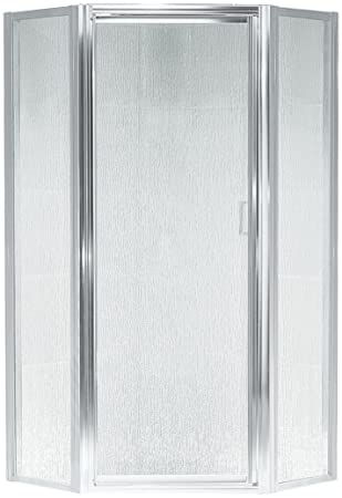 Sterling SP2276A-38S Intrigue Neo-Angle Shower Door Silver with Rain Glass Texture  sc 1 st  Amazon.com & Sterling SP2276A-38S Intrigue Neo-Angle Shower Door Silver with ... pezcame.com
