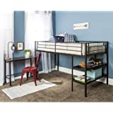 Amazon Com Avalon Full Workstation Loft Bed Black Kitchen Dining