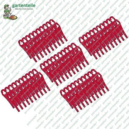 100 cuchillas de plástico aptas para cortacésped Florabest FAT 18 B3 - LIDL IAN 273039