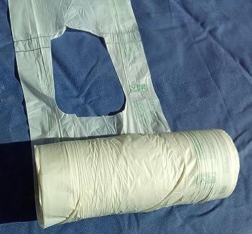 Bolsas con tirantes biodegradables y compostables ecolobag® certifiés ok-compost Home. Rollo de