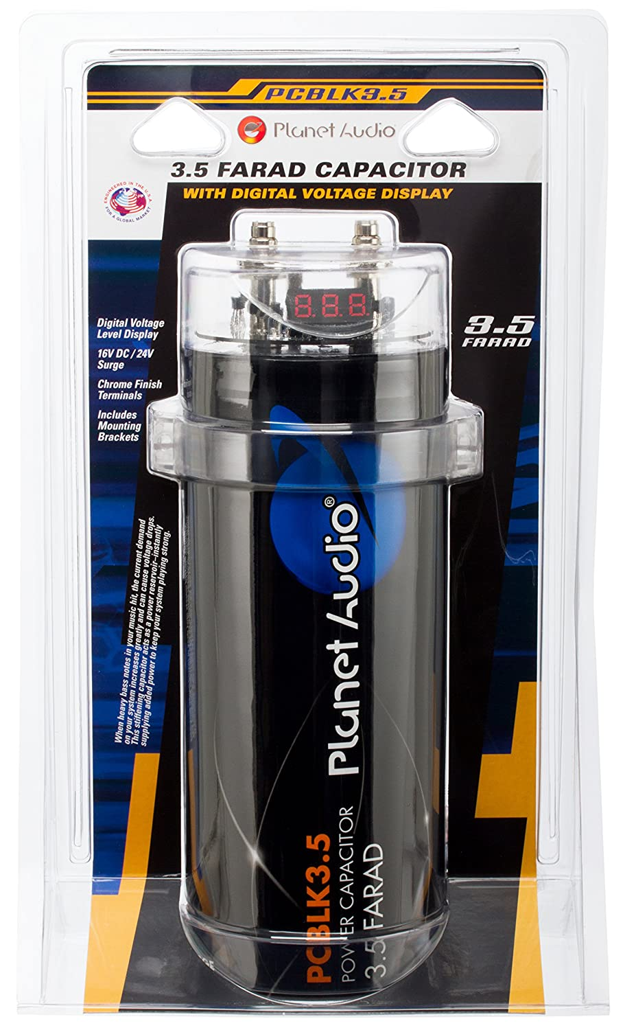 Amazon.com: Planet Audio PCBLK3.5 – 3.5 Farad Car Capacitor For Energy  Storage To Enhance Bass Demand From Audio System: Planet Audio: Car  Electronics