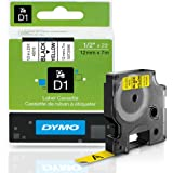 DYMO Standard D1 45018 Labeling Tape ( Black Print on Yellow Tape , 1/2'' W x 23' L , 1 Cartridge)