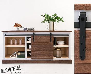 6 Foot MINI Cabinet Sliding Barn Door Hardware Kit (Black) ▫ Superior  Quality