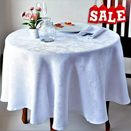 Awesome Stain Resistant White Easter Tablecloth Polyester Table Cover Rectangular Square Round Washes Easily Non Iron Thanksgiving Christmas New Year Eve Interior Design Ideas Gentotryabchikinfo