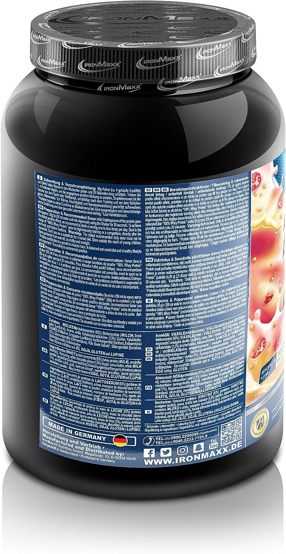 IronMaxx Ironmaxx Sabor Fresa Y Chocolate Blanco 100% Polvo Proteína De Suero 900 G En Lata 900 g