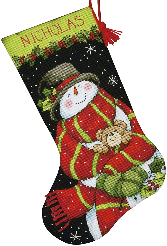 Admirable Amazon Com Dimensions Crafts Needlepoint Stocking Kit Snowman Easy Diy Christmas Decorations Tissureus