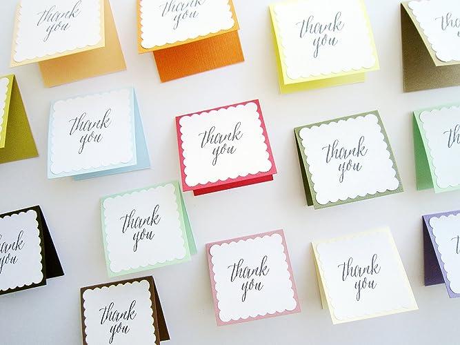 amazon com 2 x 2 colorful mini thank you cards mini thank you