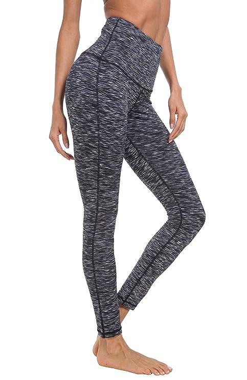 Queenie Ke Women Yoga Legging Power Flex High Waist Running Pants Workout Tights by Queenieke