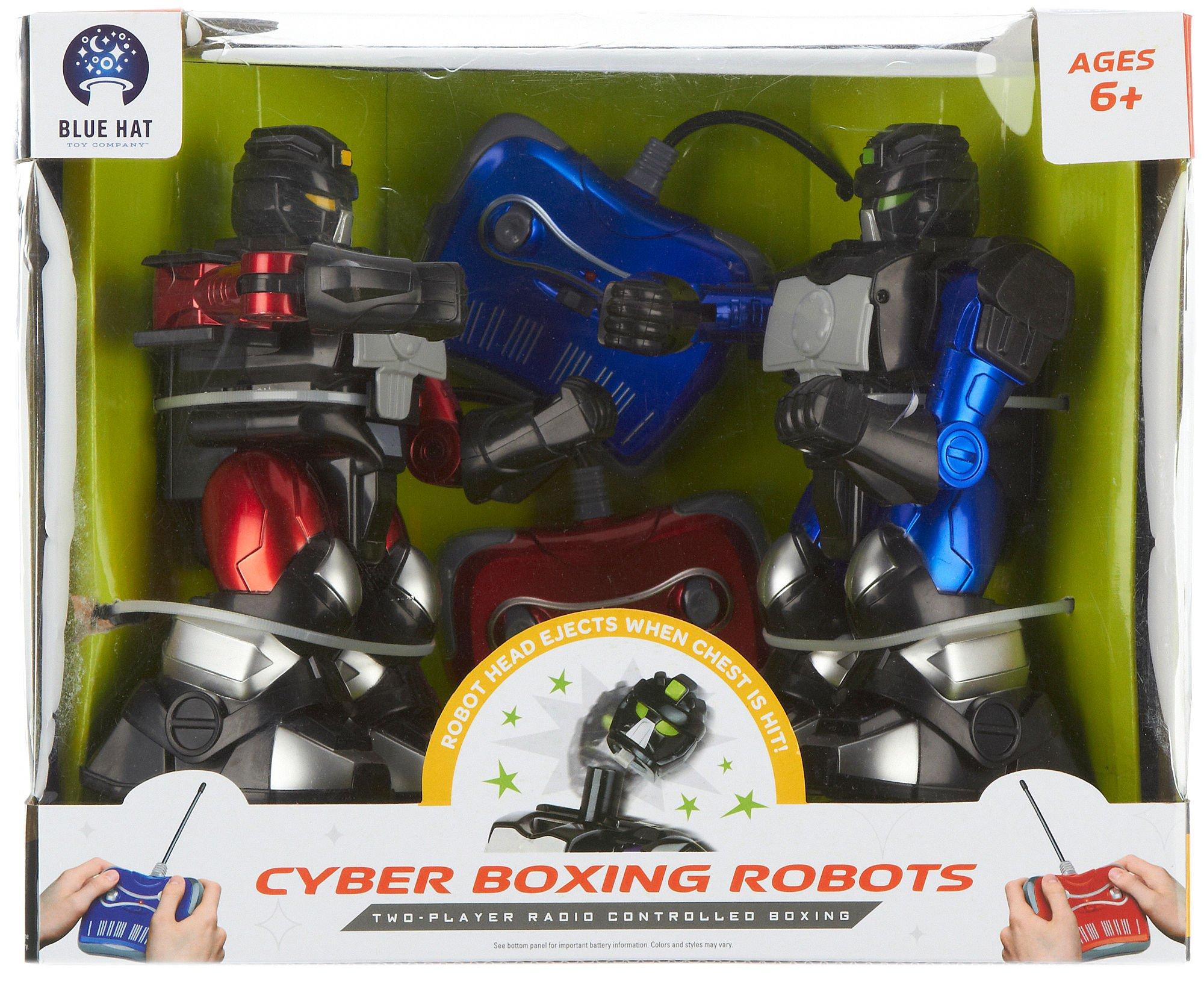 Blue Hat Remote Control Cyber Boxing Robot Set Multi
