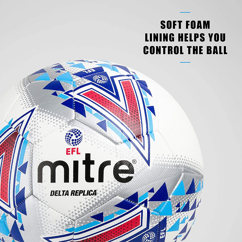 Bianco Pallone Da Calcio Delta Replica EFL Football 5 Mitre