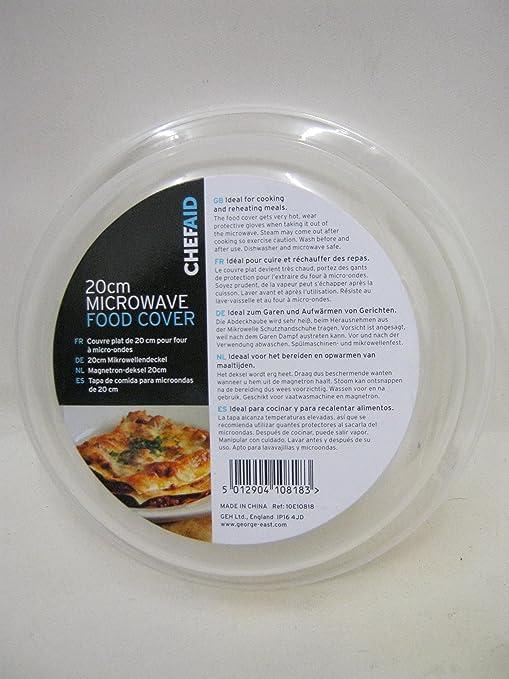 Compra Chef Aid - 20 cm microondas Tapa para Alimentos en Amazon.es