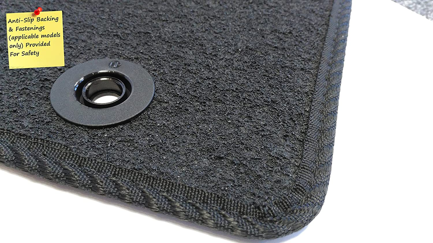2000-2007 Connected Essentials 5028085 Black with Blue Trim Tailored Heavy Duty Custom Fit Car Mats Mercedes C Class
