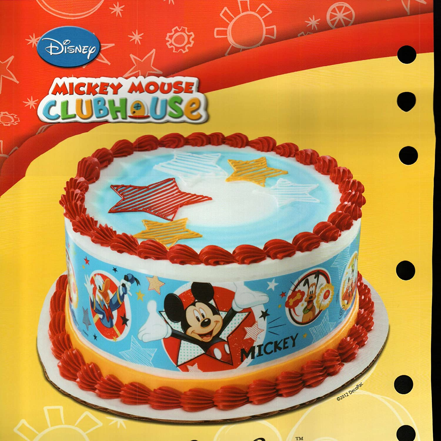 Amazon Com Mickey Mouse Designer Prints Edible Cake Image Kitchen