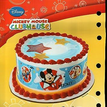 Amazon Com Mickey Mouse Designer Prints Edible Cake Image Kitchen
