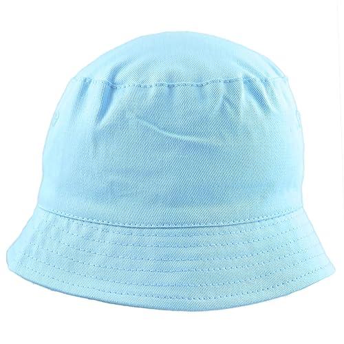 ecad5e2afde Sun Hat Boys Toddler Unisex Cotton Bucket Style Summer Beach Hat. Blue  White. 5. Pesci Baby