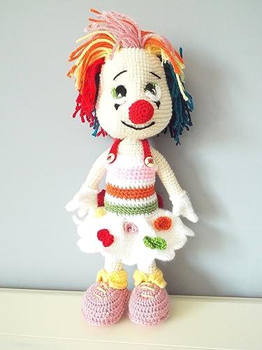Amazon Crochet Clown Doll Amigurumi Handmade