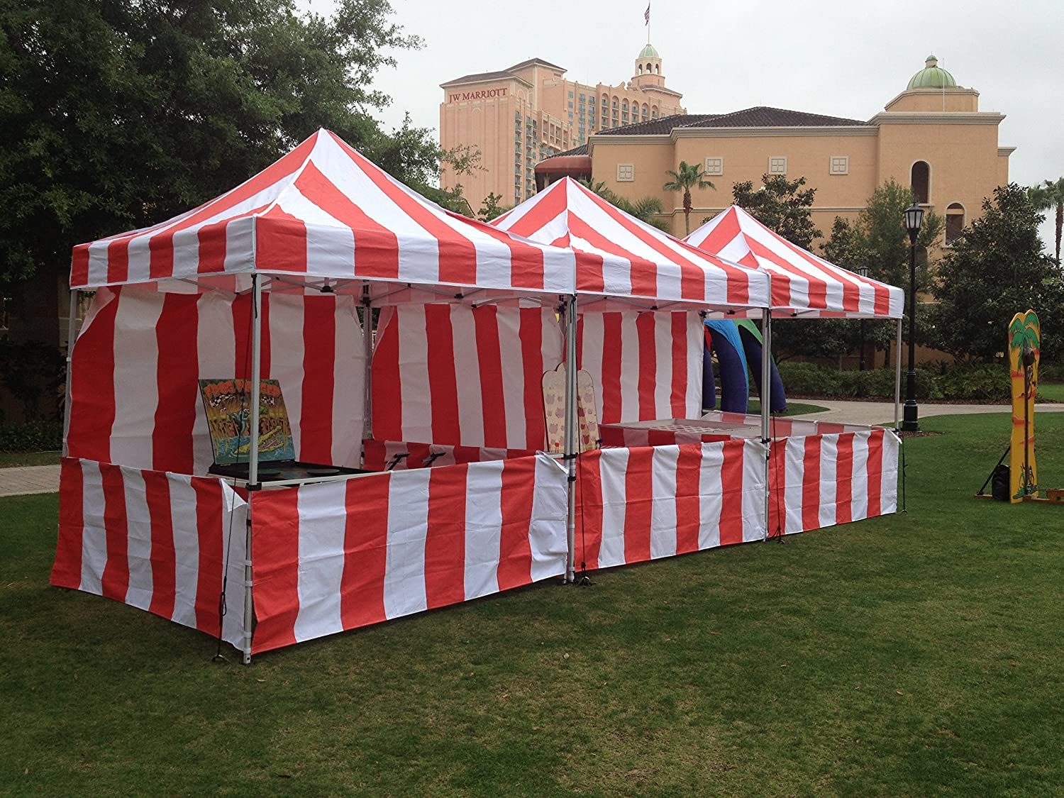 Amazon.com  Impact Canopy 8x8 EZ Pop Up Canopy Tent Carnival Vending Includes one Back Sidewall and Three Railskirts  Outdoor Canopies  Garden u0026 Outdoor & Amazon.com : Impact Canopy 8x8 EZ Pop Up Canopy Tent Carnival ...