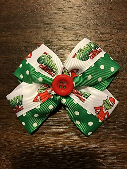 Grinch Boutique Hair Bow