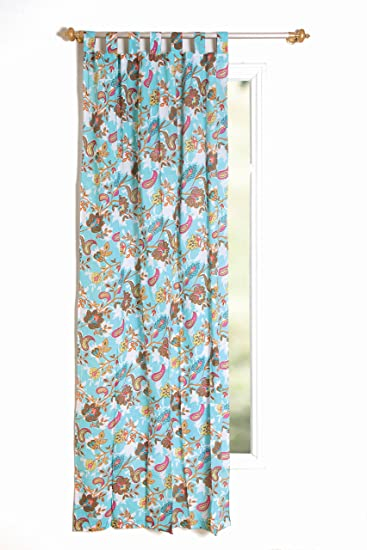 Karma Living CUPH13_TQ Paisley Heaven Curtain, Set Of 2, 44u0026quot; X 88u0026quot;