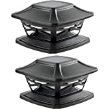 Davinci Lighting Flexfit Solar Outdoor Post Cap Lights - One-Size-Fits-All Base for 4x4 5x5 6x6 Wooden Posts - Bright LED Lig