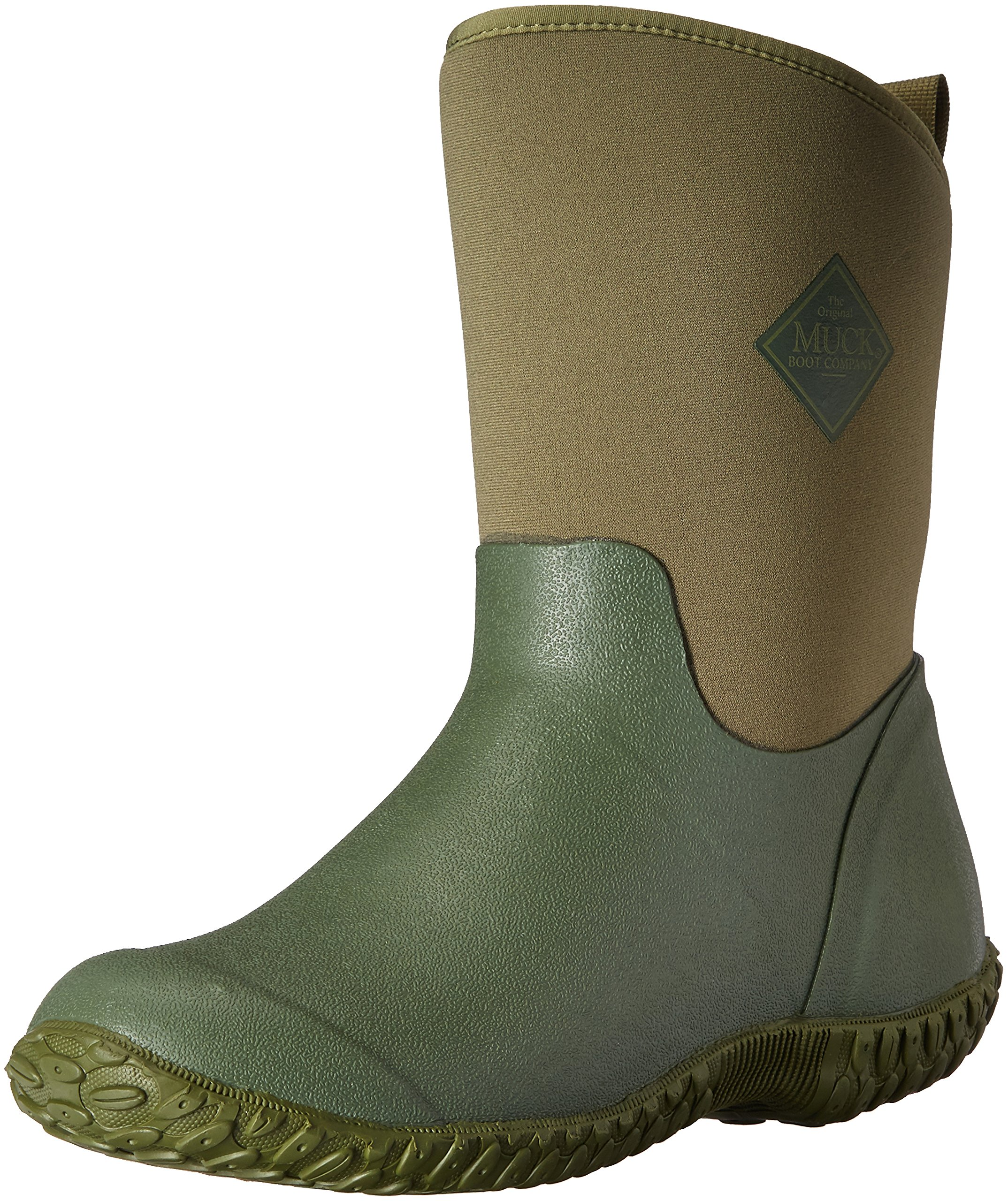 Muck Boot Women's Muckster 2 Mid Snow Boot, Green w/ Floral Print Lining, 9 B US