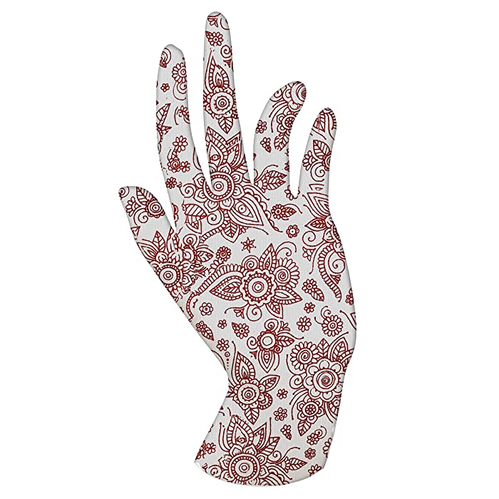 Malcolm's Miracle HENNA Moisturizing Gloves - Lasts 2 years - Made in the USA (Medium, HENNA)