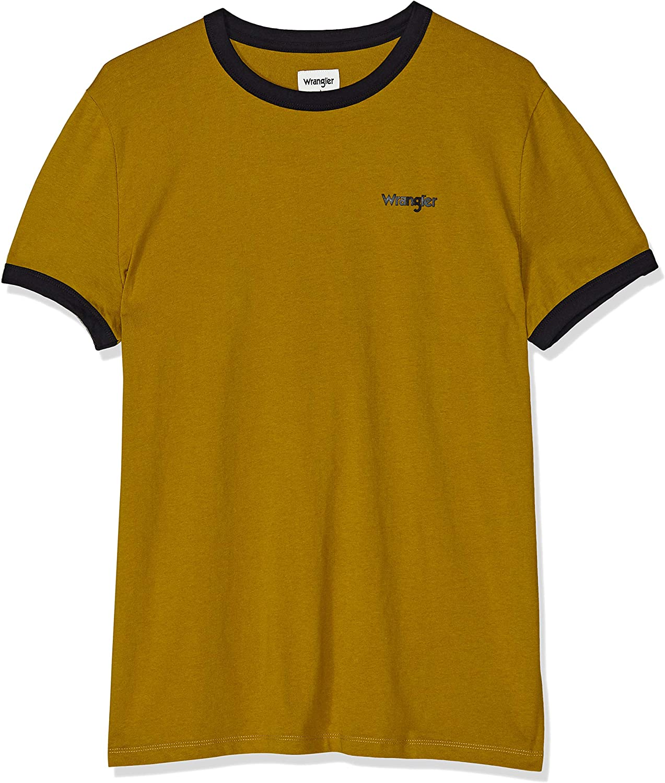 Wrangler SS Ringer tee Camiseta para Hombre