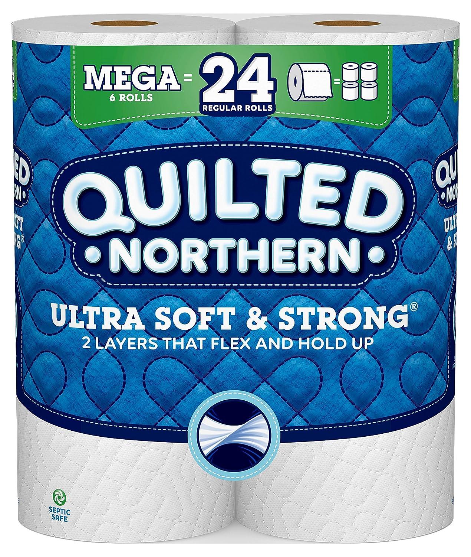 キルト風Northern Ultra Soft & Strongトイレ用紙、6メガRolls B07CRF5PD7
